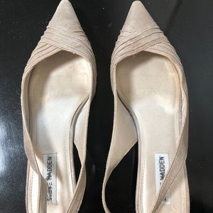 Steve Madden soft gold mini heels